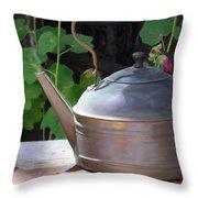Thrift Store Teapot Throw Pillow