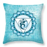 Throat Chakra - Awareness Throw Pillow
