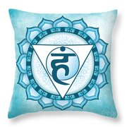 Throat Chakra Throw Pillow by David Weingaertner