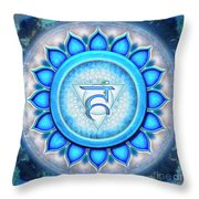 Throat Chakra - Series 5 Throw Pillow