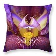 Throat Of The Iris Throw Pillow