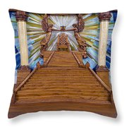 Throne Of Grace Throw Pillow