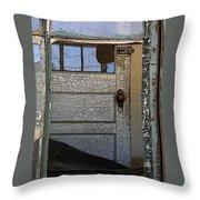 Through A Broken Window Throw Pillow