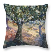 Through Ancient Olives Throw Pillow