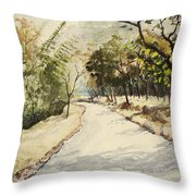 Through Mudumalai Forests Throw Pillow