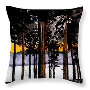 Through My Woods Throw Pillow