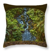 Through The Arch Signed Throw Pillow