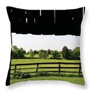 Through The Barn Throw Pillow