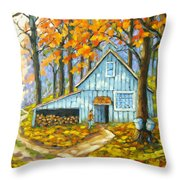 Through The Deep Woods Throw Pillow