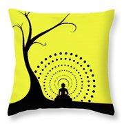 Through The Eye Of Buddhism Throw Pillow