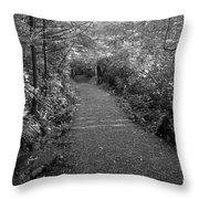 Through The Forest Canopy Black And White Throw Pillow