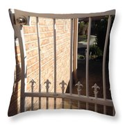 Through The Gate Throw Pillow