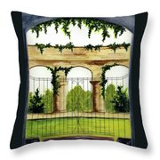 Through The Gates Throw Pillow