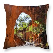Through The Golden Arch Throw Pillow
