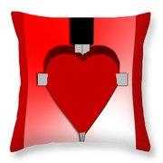 Through The Heart Throw Pillow