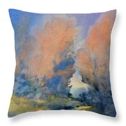 Through The Hole In The Trees Throw Pillow