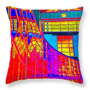 Through The Kaleidoscope Wormhole Throw Pillow