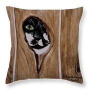 Through The Knothole Throw Pillow