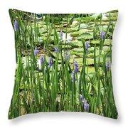 Through The Lily Pond Throw Pillow