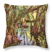 Through The Mangroves Throw Pillow