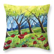 Through The Meadows Throw Pillow
