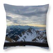 Through The Mountains  Throw Pillow