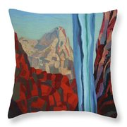 Through The Narrows, Zion Throw Pillow by Erin Fickert-Rowland
