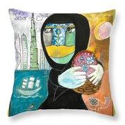 Through The Niqab Throw Pillow