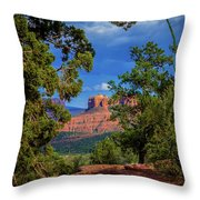 Through The Pines Throw Pillow