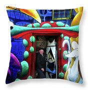 Through The Rabbit Hole Throw Pillow