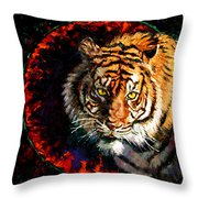 Through The Ring Of Fire Throw Pillow