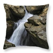 Through The Rocks Throw Pillow