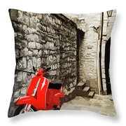 Through The Streets Of Italy - 01 Throw Pillow