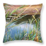 Through The Thickets Throw Pillow