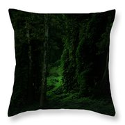 Through The Woods Dark And Deep Throw Pillow