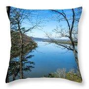 Through To The Susquehanna Throw Pillow