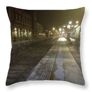 Thrown Off The Train Throw Pillow
