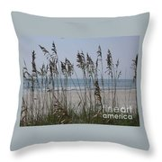 Thru The Sea Oats Throw Pillow