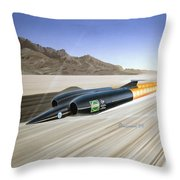 Thrust S S C - Mach 1 Throw Pillow