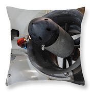 Thruster On A Deep Sea Submarine Throw Pillow