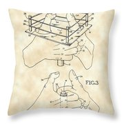 Thumb Wrestling Game Patent 1991 - Vintage Throw Pillow