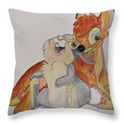 Thumper And Bambi Throw Pillow