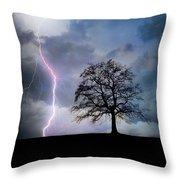 Thunder And Lightning Throw Pillow