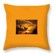 Thunder Mets Sunset Throw Pillow