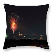 Thunder On Red Mt Throw Pillow