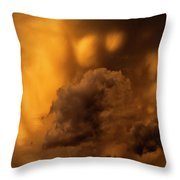 Thunder Storm Sunset #8324 Throw Pillow