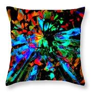 Thunder Through A Rainbow Throw Pillow