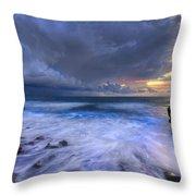 Thunder Tides Throw Pillow