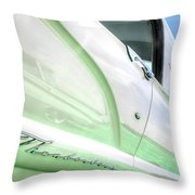 Thunderbird Abstract In Mint And White Throw Pillow