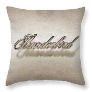Thunderbird Badge Throw Pillow